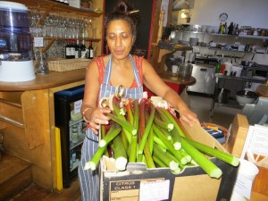 Azra from Star Anise and the donated rhubarb